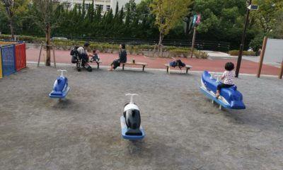 しながわ公園くじら遊具