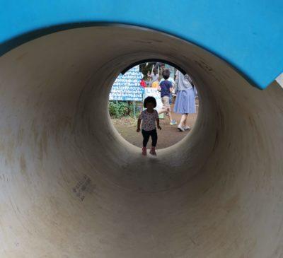 しながわ公園のトンネル