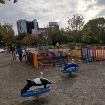 しながわ公園の砂場