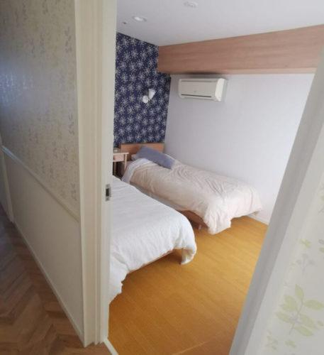 マホロバマインズベビールームの寝室