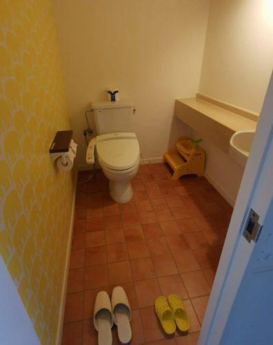 マホロバマインズベビールームのトイレ
