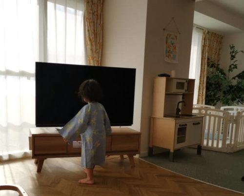 マホロバマインズベビールームのテレビ