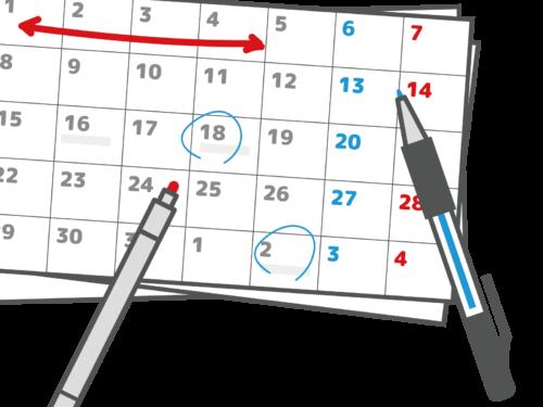 カレンダーに記入